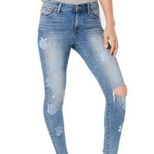 NWT Lucky Brand Ava Skinny Jeans Embroidered